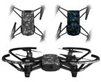 Skin Decal Wrap 2 Pack for DJI Ryze Tello Drone Scattered Skulls Gray DRONE NOT INCLUDED