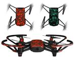 Skin Decal Wrap 2 Pack for DJI Ryze Tello Drone Scattered Skulls Red DRONE NOT INCLUDED