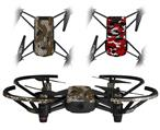 Skin Decal Wrap 2 Pack for DJI Ryze Tello Drone HEX Mesh Camo 01 Brown DRONE NOT INCLUDED