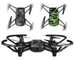 Skin Decal Wrap 2 Pack for DJI Ryze Tello Drone HEX Mesh Camo 01 Gray DRONE NOT INCLUDED