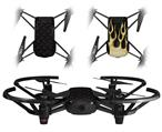 Skin Decal Wrap 2 Pack for DJI Ryze Tello Drone Diamond Plate Metal 02 Black DRONE NOT INCLUDED