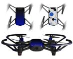 Skin Decal Wrap 2 Pack for DJI Ryze Tello Drone Smooth Fades Blue Black DRONE NOT INCLUDED