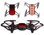 Skin Decal Wrap 2 Pack for DJI Ryze Tello Drone Smooth Fades Red Black DRONE NOT INCLUDED