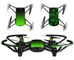 Skin Decal Wrap 2 Pack for DJI Ryze Tello Drone Smooth Fades Green Black DRONE NOT INCLUDED