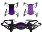 Skin Decal Wrap 2 Pack for DJI Ryze Tello Drone Smooth Fades Purple Black DRONE NOT INCLUDED