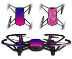 Skin Decal Wrap 2 Pack for DJI Ryze Tello Drone Smooth Fades Hot Pink Blue DRONE NOT INCLUDED