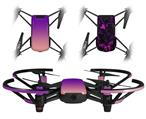 Skin Decal Wrap 2 Pack for DJI Ryze Tello Drone Smooth Fades Pink Purple DRONE NOT INCLUDED