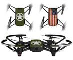 Skin Decal Wrap 2 Pack for DJI Ryze Tello Drone Distressed Army Star DRONE NOT INCLUDED