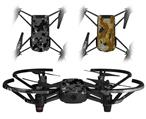 Skin Decal Wrap 2 Pack for DJI Ryze Tello Drone WraptorCamo Old School Camouflage Camo Black DRONE NOT INCLUDED