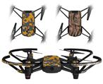 Skin Decal Wrap 2 Pack for DJI Ryze Tello Drone WraptorCamo Old School Camouflage Camo Orange DRONE NOT INCLUDED