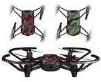Skin Decal Wrap 2 Pack for DJI Ryze Tello Drone WraptorCamo Old School Camouflage Camo Red Dark DRONE NOT INCLUDED