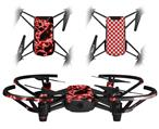 Skin Decal Wrap 2 Pack for DJI Ryze Tello Drone Electrify Red DRONE NOT INCLUDED