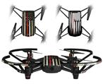 Skin Decal Wrap 2 Pack for DJI Ryze Tello Drone Painted Faded and Cracked Red Line USA American Flag DRONE NOT INCLUDED