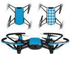 Skin Decal Wrap 2 Pack for DJI Ryze Tello Drone Solids Collection Blue Neon DRONE NOT INCLUDED