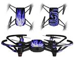 Skin Decal Wrap 2 Pack for DJI Ryze Tello Drone Lightning Blue DRONE NOT INCLUDED