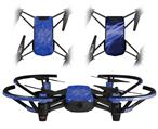 Skin Decal Wrap 2 Pack for DJI Ryze Tello Drone Stardust Blue DRONE NOT INCLUDED