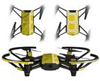 Skin Decal Wrap 2 Pack for DJI Ryze Tello Drone Stardust Yellow DRONE NOT INCLUDED