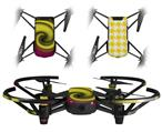 Skin Decal Wrap 2 Pack for DJI Ryze Tello Drone Alecias Swirl 01 Yellow DRONE NOT INCLUDED