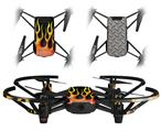 Skin Decal Wrap 2 Pack for DJI Ryze Tello Drone Metal Flames DRONE NOT INCLUDED