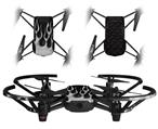 Skin Decal Wrap 2 Pack for DJI Ryze Tello Drone Metal Flames Chrome DRONE NOT INCLUDED
