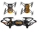 Skin Decal Wrap 2 Pack for DJI Ryze Tello Drone Chrome Skull on Fire DRONE NOT INCLUDED