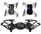 Skin Decal Wrap 2 Pack for DJI Ryze Tello Drone Neon Swoosh on Black DRONE NOT INCLUDED