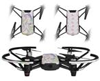 Skin Decal Wrap 2 Pack for DJI Ryze Tello Drone Neon Swoosh on White DRONE NOT INCLUDED