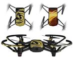 Skin Decal Wrap 2 Pack for DJI Ryze Tello Drone Alecias Swirl 02 Yellow DRONE NOT INCLUDED