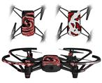 Skin Decal Wrap 2 Pack for DJI Ryze Tello Drone Alecias Swirl 02 Red DRONE NOT INCLUDED
