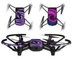 Skin Decal Wrap 2 Pack for DJI Ryze Tello Drone Alecias Swirl 02 Purple DRONE NOT INCLUDED