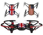 Skin Decal Wrap 2 Pack for DJI Ryze Tello Drone Union Jack 02 DRONE NOT INCLUDED