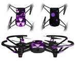 Skin Decal Wrap 2 Pack for DJI Ryze Tello Drone Radioactive Purple DRONE NOT INCLUDED