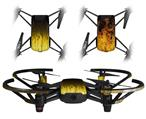 Skin Decal Wrap 2 Pack for DJI Ryze Tello Drone Fire Yellow DRONE NOT INCLUDED