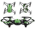 Skin Decal Wrap 2 Pack for DJI Ryze Tello Drone Rising Sun Japanese Flag Green DRONE NOT INCLUDED