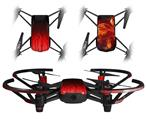 Skin Decal Wrap 2 Pack for DJI Ryze Tello Drone Fire Red DRONE NOT INCLUDED