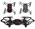 Skin Decal Wrap 2 Pack for DJI Ryze Tello Drone Skulls Confetti Pink DRONE NOT INCLUDED