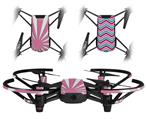 Skin Decal Wrap 2 Pack for DJI Ryze Tello Drone Rising Sun Japanese Flag Pink DRONE NOT INCLUDED