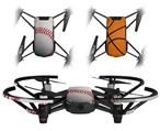 Skin Decal Wrap 2 Pack for DJI Ryze Tello Drone Baseball DRONE NOT INCLUDED
