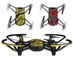 Skin Decal Wrap 2 Pack for DJI Ryze Tello Drone Camouflage Yellow DRONE NOT INCLUDED