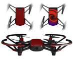 Skin Decal Wrap 2 Pack for DJI Ryze Tello Drone Solids Collection Red Dark DRONE NOT INCLUDED