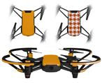 Skin Decal Wrap 2 Pack for DJI Ryze Tello Drone Solids Collection Orange DRONE NOT INCLUDED