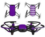 Skin Decal Wrap 2 Pack for DJI Ryze Tello Drone Solids Collection Purple DRONE NOT INCLUDED