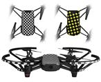 Skin Decal Wrap 2 Pack for DJI Ryze Tello Drone Checkered Canvas Black and White DRONE NOT INCLUDED