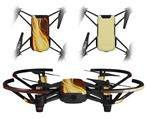 Skin Decal Wrap 2 Pack for DJI Ryze Tello Drone Mystic Vortex Yellow DRONE NOT INCLUDED
