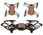 Skin Decal Wrap 2 Pack for DJI Ryze Tello Drone Zig Zag Yellow Burgundy Orange DRONE NOT INCLUDED