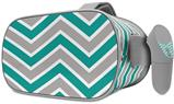 Decal style Skin Wrap compatible with Oculus Go Headset - Zig Zag Teal and Gray (OCULUS NOT INCLUDED)
