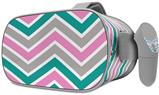 Decal style Skin Wrap compatible with Oculus Go Headset - Zig Zag Teal Pink and Gray (OCULUS NOT INCLUDED)