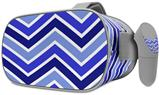 Decal style Skin Wrap compatible with Oculus Go Headset - Zig Zag Blues (OCULUS NOT INCLUDED)