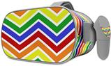 Decal style Skin Wrap compatible with Oculus Go Headset - Zig Zag Rainbow (OCULUS NOT INCLUDED)
