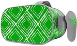 Decal style Skin Wrap compatible with Oculus Go Headset - Wavey Green (OCULUS NOT INCLUDED)